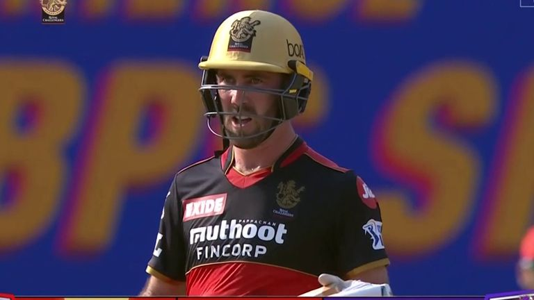 Glenn Maxwell's 78 from 49 balls enabled Royal Challengers Bangalore to recover from a poor start