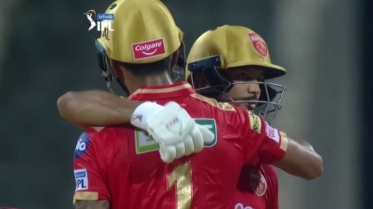 Mayank Agarwal and KL Rahul put on an opening stand of 122 for Punjab Kings