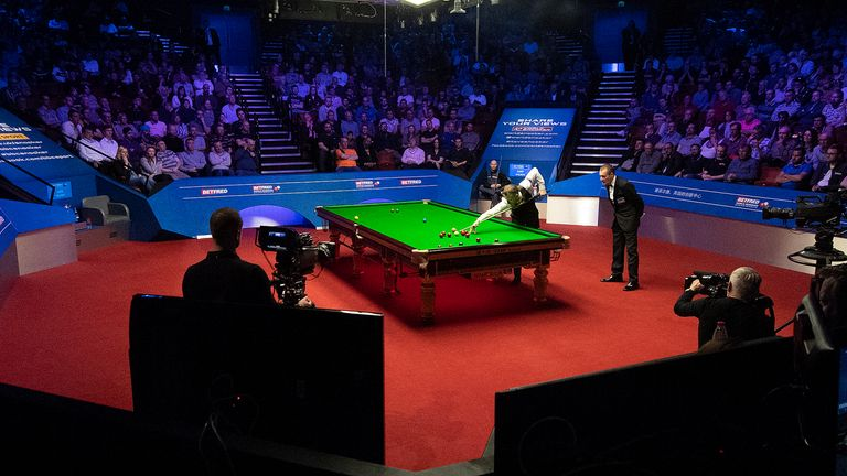 The Crucible Theatre will be at full capacity for the World Snooker final in May