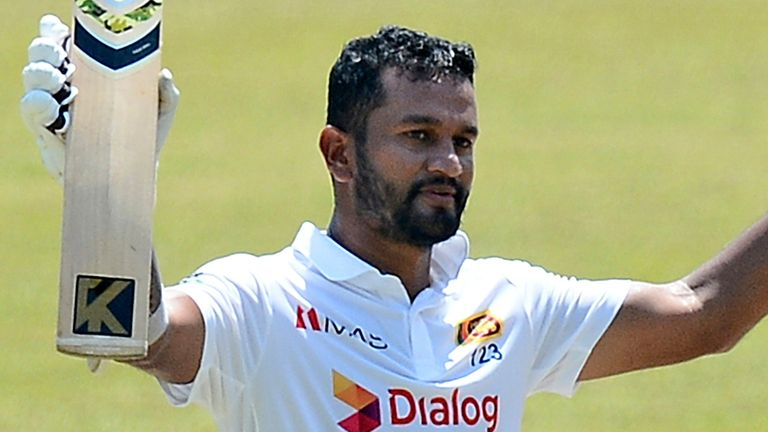 Sri Lanka captain Dimuth Karunaratne has scored the first double century of his Test career