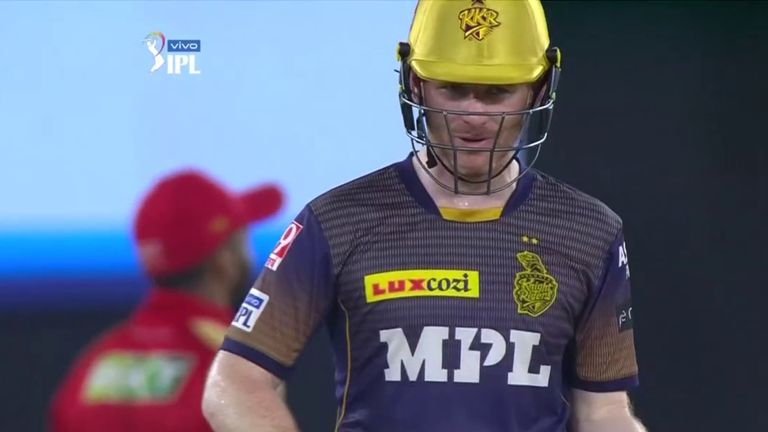 Eoin Morgan hit 47no to lead Kolkata Knight Riders to their second IPL win of the campaign