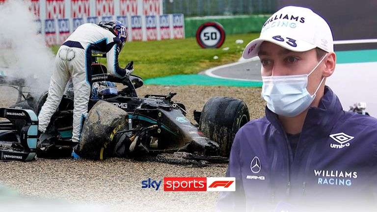 George Russell felt that Valtteri Bottas was to blame for the collision between the two which left both cars out of the race