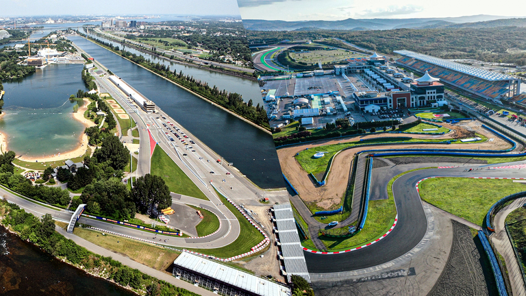Montreal's Circuit Gilles Villeneuve (left) will miss out for another season with Turkey's Istanbul Park (right) added in its place for round seven