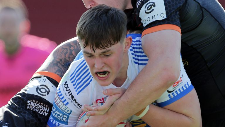 Jack Broadbent lined up at full-back against Castleford last weekend