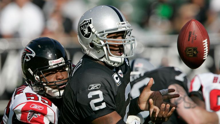 Former Oakland Raiders quarterback JaMarcus Russell is a cautionary tale in terms of drafting a first-round QB