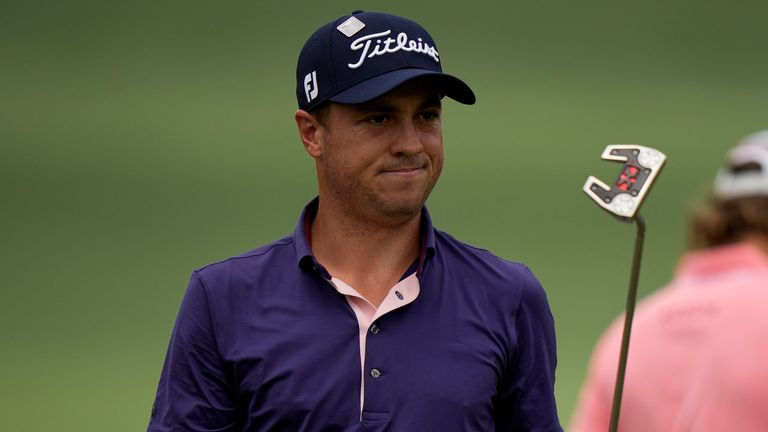 Justin Thomas won The Players Championship last month but was unable to follow up at Augusta National