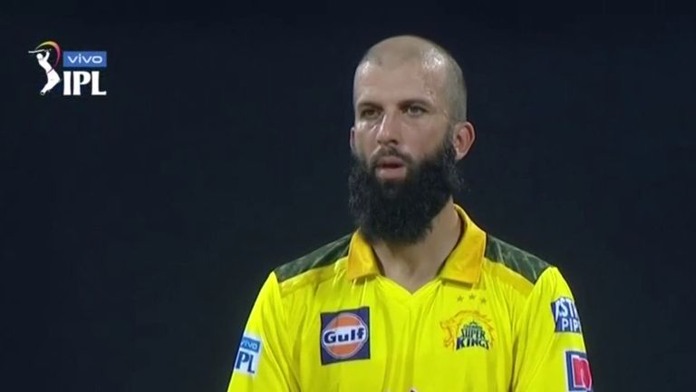 Moeen Ali took 3-7 from three overs for Chennai Super Kings after hitting a brisk 26 with the bat