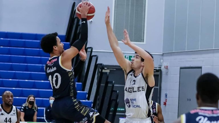 Gordon in action against the Newcastle Eagles. Image: Cheshire Phoenix