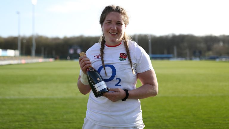 Poppy Cleall, who was named player of the match vs Scotland in Round 1, starts at No 8 this Saturday