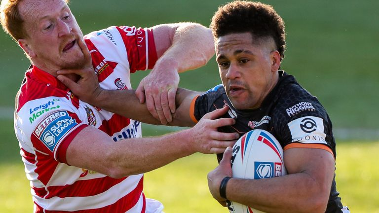 Derrell Olpherts scored two tries for Castleford