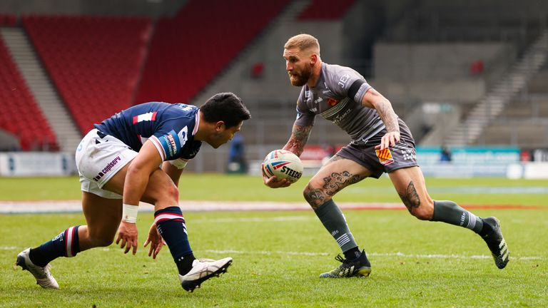 Sam Tomkins was again influential in the Dragons' win over Wakefield