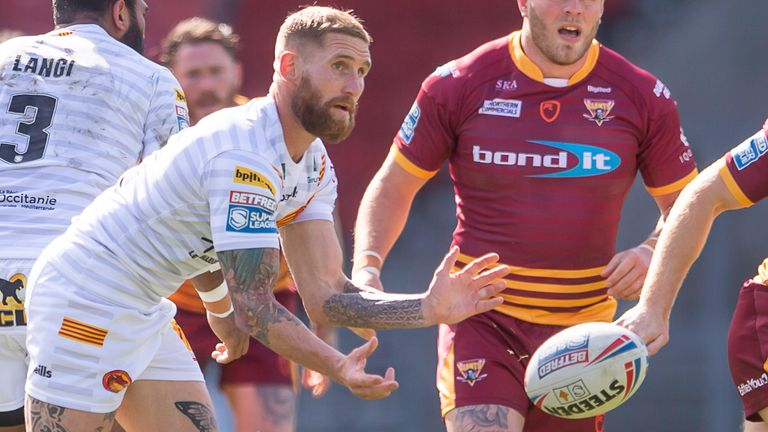 Sam Tomkins was influential in Catalans' win over Huddersfield