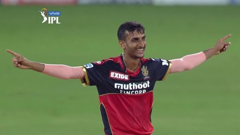 RCB spinner Shahbaz Ahmed took three wickets in an over, including Jonny Bairstow, as Sunrisers collapsed in Chennai