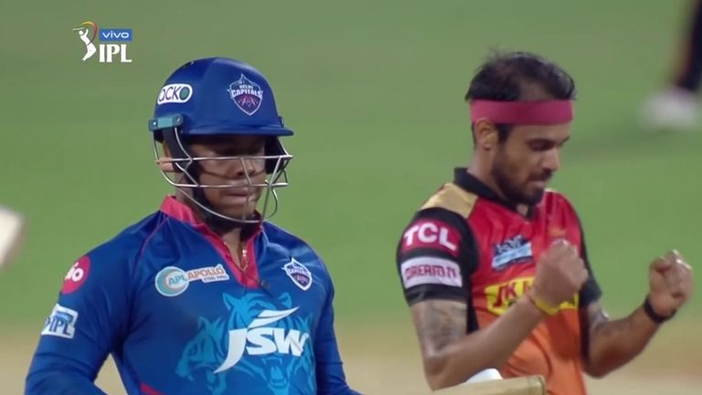 Siddarth Kaul bagged two wickets for Sunrisers
