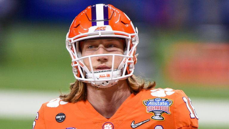 Clemson quarterback Trevor Lawrence is expected to land with the Jacksonville Jaguars with the first pick at the 2021 NFL Draft (Photo by Ken Murray/Icon Sportswire)