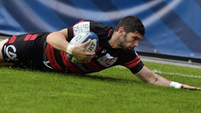 Xavier Mignot scored a hat-trick as Lyon dispatched of Gloucester in the pool stages