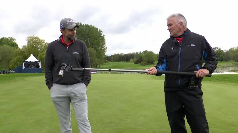 Richard Bland was an emotional man speaking to his coach Tim Barter and his family after claiming his first European Tour win at the Betfred British Masters