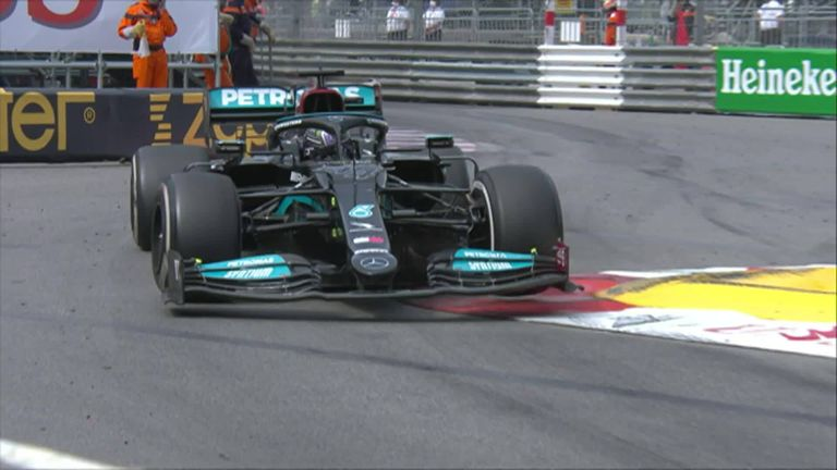 Lewis Hamilton had a frustrating day in Monaco and finished seventh, losing his championship lead to Max Verstappen.