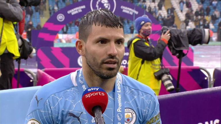 Aguero thanks his team-mates and says it's an honour to have been a Manchester City player for the last decade