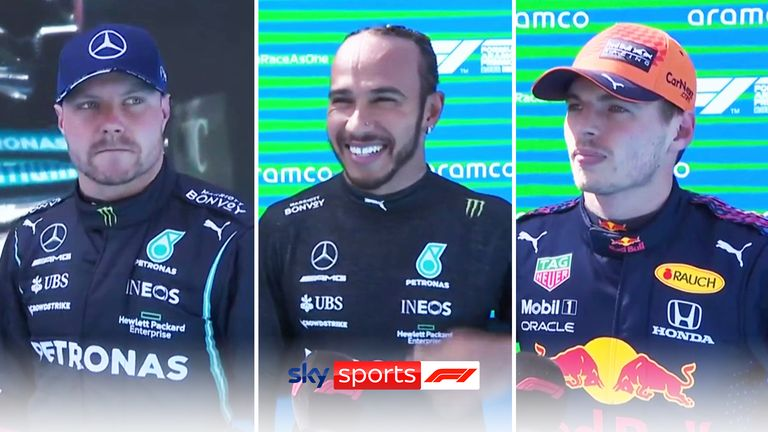 Lewis Hamilton, Max Verstappen, and Valtteri Bottas took the top three spots in qualifying at Barcelona.