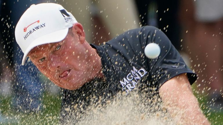 Alex Cejka was one of only seven players to finish the Senior PGA Championship under par