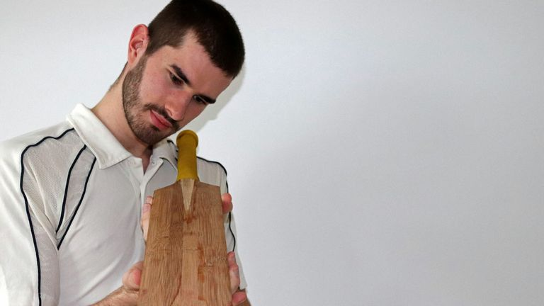 Ben Tinkler-Davies was part of the University of Cambridge research study into bamboo cricket bats