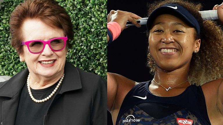 """Naomi Osaka: Billie Jean King """"torn"""" trying to learn from both sides of the media boycott argument    Tennis News"""