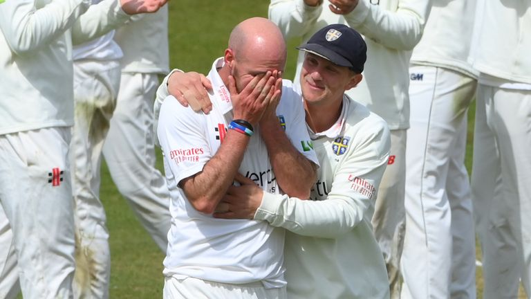 Chris Rushworth has become Durham's all-time leading wicket-taker in first-class cricket after taking his 528th scalp