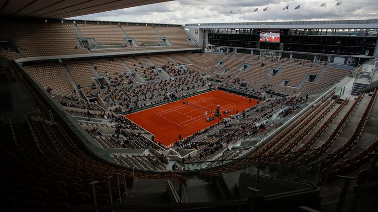 Court Philippe Chatrier will have up to 1,000 spectators in attendance during the first 10 days of the of French Open
