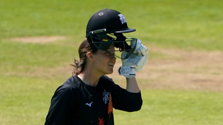 Amy Jones smashed the tournament record with an unbeaten 163 in Central Sparks' victory over Western Storm at Edgbaston (PA Images)