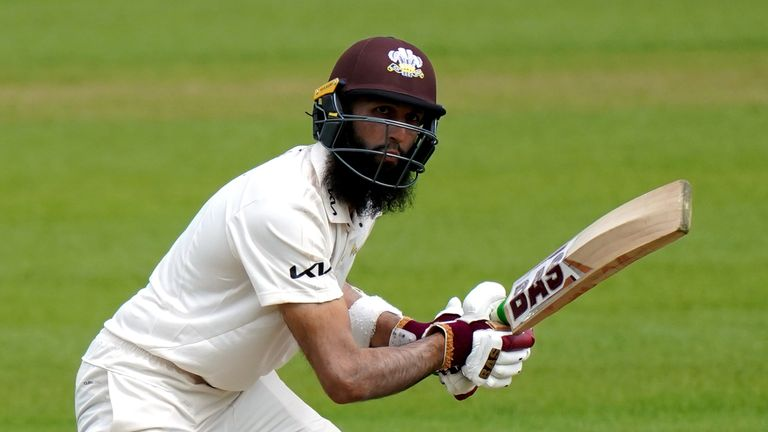 Hashim Amla hit his second-highest score of the season as Surrey posted a total of 473 against Gloucestershire (PA Images)
