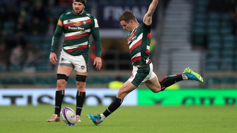 George Ford kicked the opening points of the final from the kicking tee