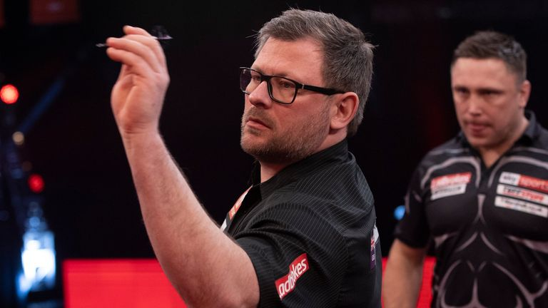 James Wade is currently seventh in the Premier League Darts table