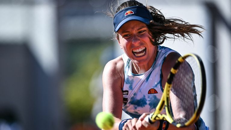 Johanna Konta, the 19th seed, suffered another first-rounddefeat in Paris