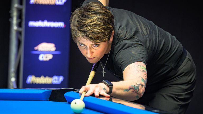 Kelly Fisher et son partenaire britannique Allison Fisher ont été battus par trois fois champions de la Coupe du monde de piscine aux Philippines