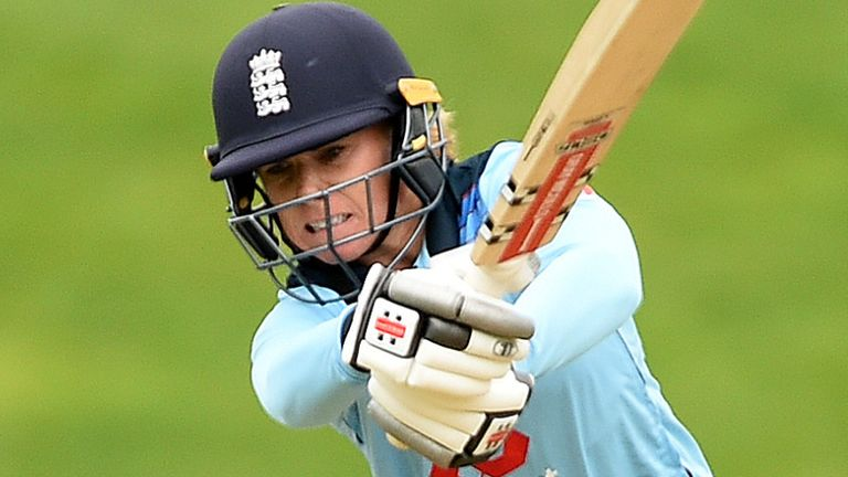 Lauren Winfield-Hill looked in impressive form as she compiled 140no off 131 balls for England Women A
