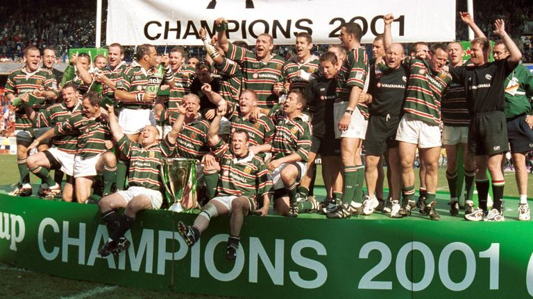 Leicester left it late to defeat Stade Francais in a high-scoring 2001 final in Paris