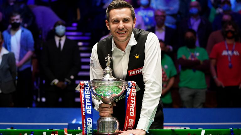 Mark Selby became a four-time world champion at the Crucible