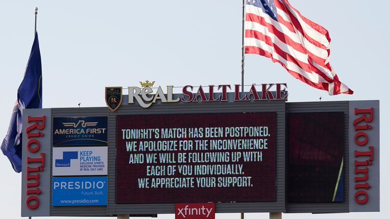 The scheduled match between Real Salt Lake and Los Angeles FC was one of five MLS games to be postponed