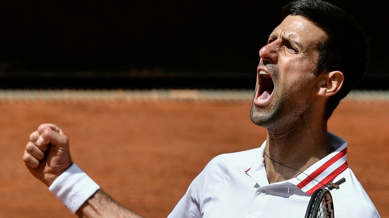 Djokovic booked his spot in the Rome semi-finals for the 12th time