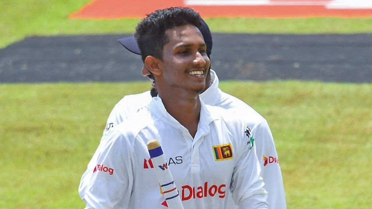 Praveen Jayawickrama took 11 wickets in the match on debut for Sri Lanka as they beat Bangladesh