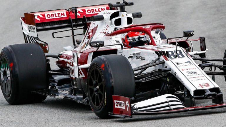 Pirelli image of Robert Kubica in tyre testing action in Spain