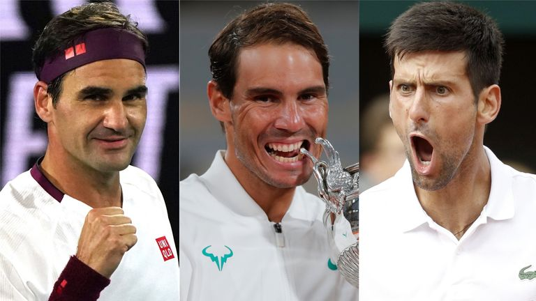 Roger Federer, Novak Djokovic and Rafael Nadal have all landed in the same half of the draw at this year's French Open