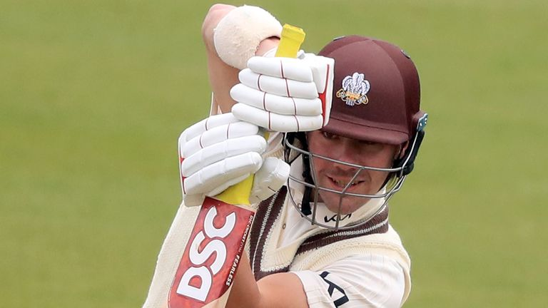 England batsman Rory Burns scored a half-century and a hundred in Surrey's draw with Middlesex at The Kia Oval