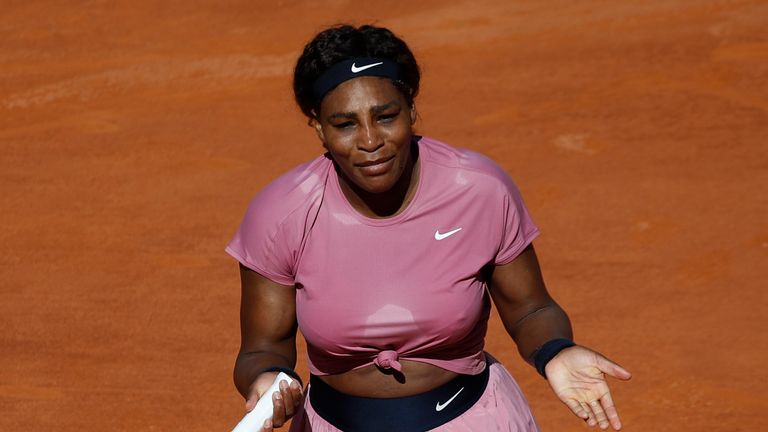 Williams made just 48.1 per cent of her first serves during the encounter