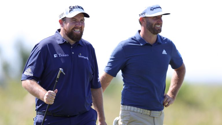 Shane Lowry and Dustin Johnson enjoyed a practice round together at Kiawah Island on Monday