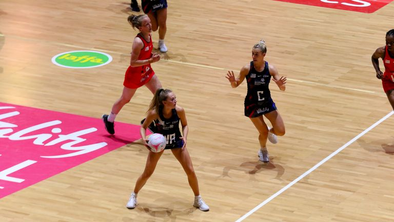 Strathclyde Sirens' mid-court continues to excel (Image Credit - Ben Lumley)