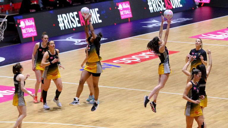 The two-time champions continue to fix their sights on play-off netball (Image Credit - Ben Lumley)
