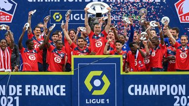 Lille beat PSG by one point to win Ligue 1 in 2020/21 - their first title since 2011