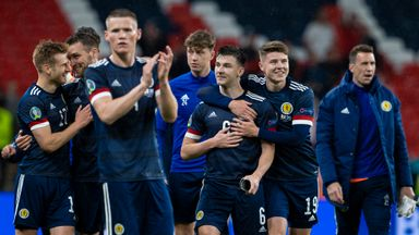 Scotland players applaud fans at Wembley after their draw with England